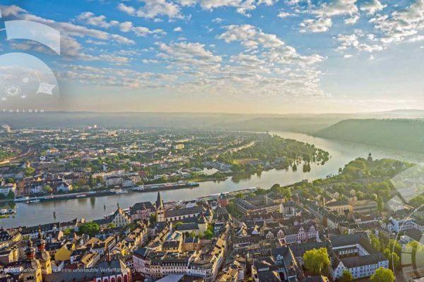 Blick über Koblenz